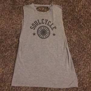 Soulcycle open back tank top